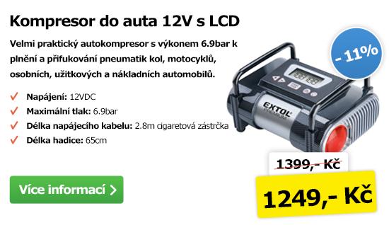 Kompresor do auta 12V s LCD