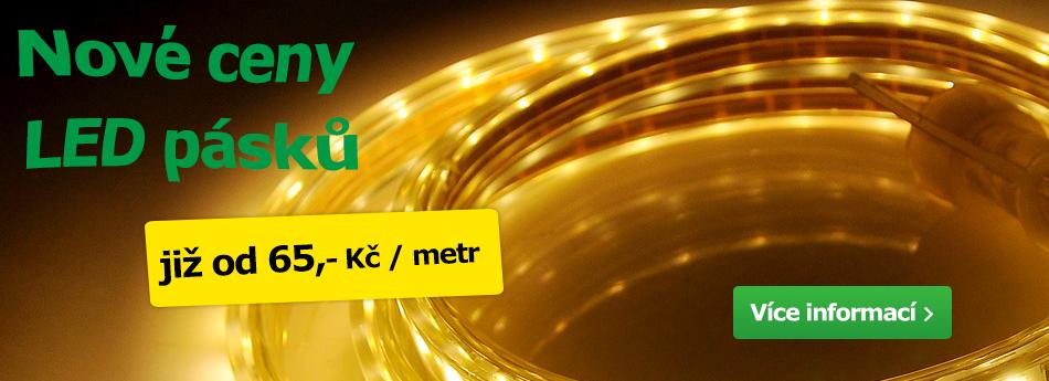 Nové ceny LED pásků