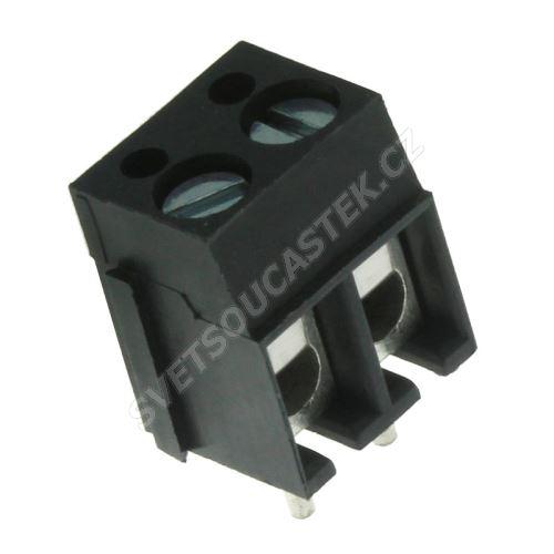 Šroubovací svorkovnice do DPS 2 kontakty 24A/250V RM5.08mm šedá barva PTR AKZ120/2DS-5.08-V-GREY