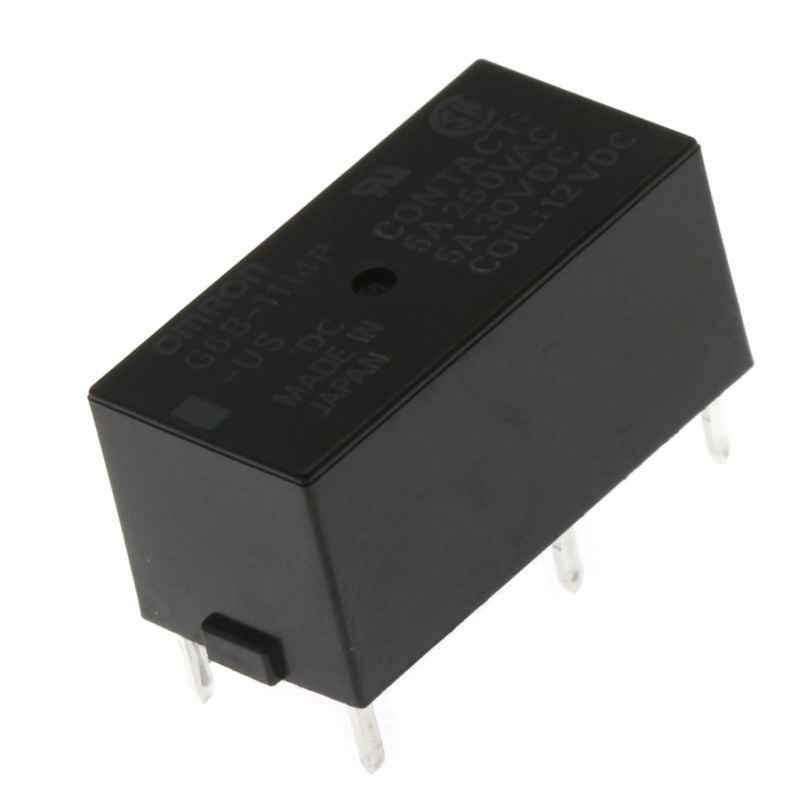 Levně Elektromagnetické relé s dc cívkou do dps 12vdc 5a/250vac omron g6b-1114p-us 12vdc