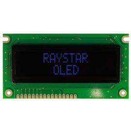 Alfanumerický OLED displej Raystar REC001602EBPP5N00000