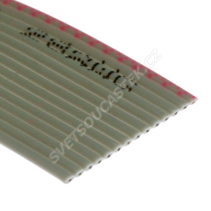 Plochý kábel AWG28 14 žil licna rozteč 1,27mm PVC šedá farba