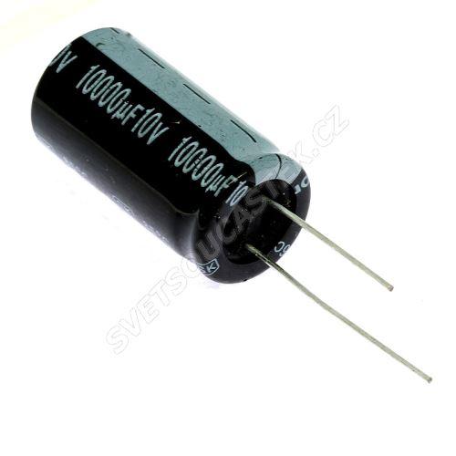 Elektrolytický kondenzátor radiální E 10000uF/10V 18x35 RM7.5 85°C Jamicon SKR103M1AL35M