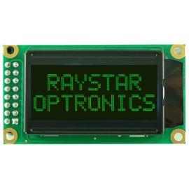 Alfanumerický LCD displej Raystar RC0802A-TIY-ESV