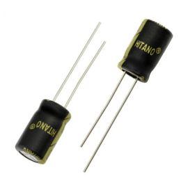 Elektrolytický kondenzátor radiální E 330uF/16V 8x12 RM3.5 105°C low ESR Hitano EXR331M16B