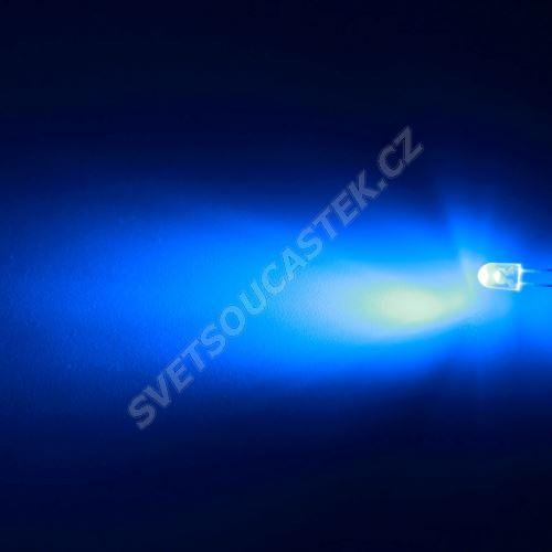 LED oválná 5,2x3,8mm modrá 4000mcd/(70/40°) transparentní Hebei 774LB7T-S