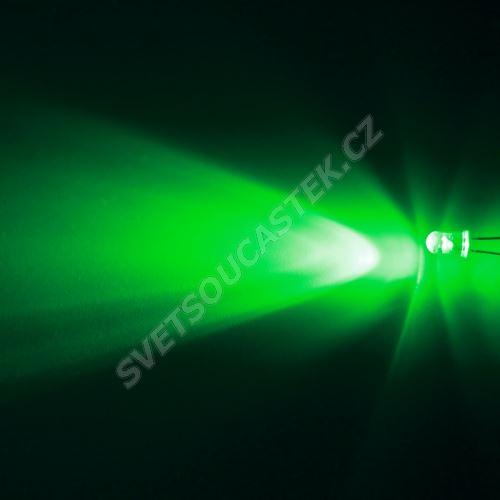LED 5mm zelená 24000mcd/17° čirá Hebei 515XG2C