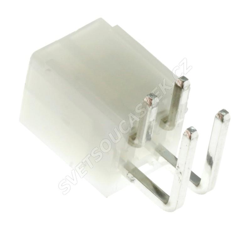 Konektor se zámkem pro 4 piny (2x2) do DPS RM4.2 úhlový 90° Amphenol MF42-RD-04