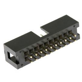 Konektor IDC pro ploché kabely 20 pinů (2x10) RM2.54mm do DPS přímý Xinya 118-A 20 G S K