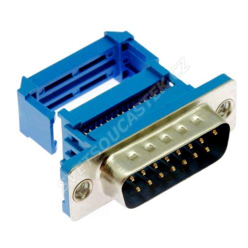 Konektor CANON samořezný 15 pinů vidlice na kabel přímá Xinya 103-15 P M B 1