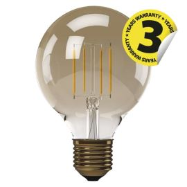 LED žiarovka Vintage G95 4W / 360 ° teplá biela E27 / 230V Emos Z74304