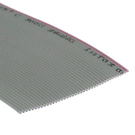 Plochý kabel AWG28 40 žil licna rozteč 1,27mm PVC šedá barva