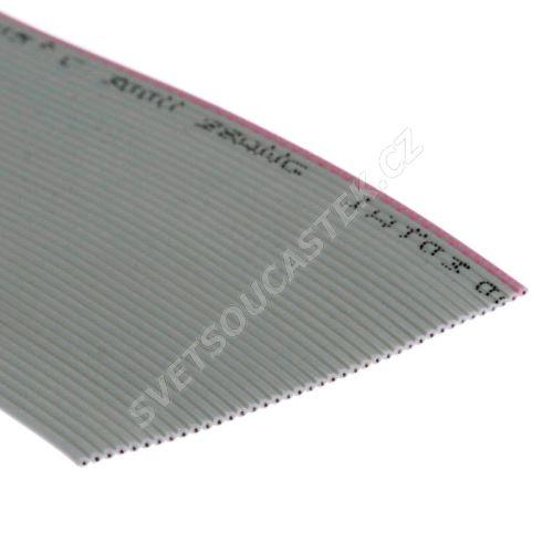 Plochý kábel AWG28 40 žil licna rozteč 1,27mm PVC šedá farba