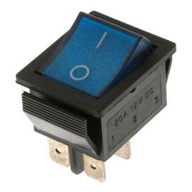 Kolébkový spínač do panelu spínací 2-pólový ON-OFF 20A 12V DC Jietong  IRS-201-1C3D-BL/B