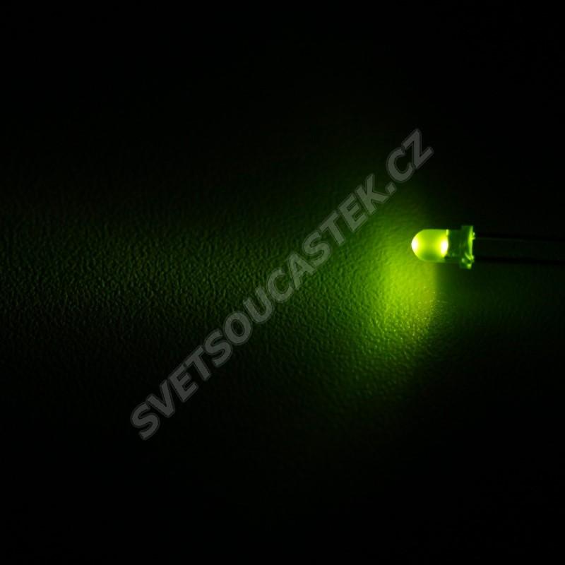LED 3mm zelená 110mcd/30° difúzní Wenrun LAG30240