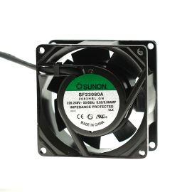 Ventilátor 80x80x38mm 230V AC/90mA 32dB SUNON SF23080A-2083HBL.GN