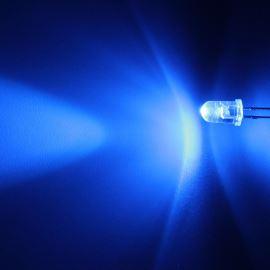 LED 5mm modrá 8200mcd/23° čirá Hebei 520LB7C