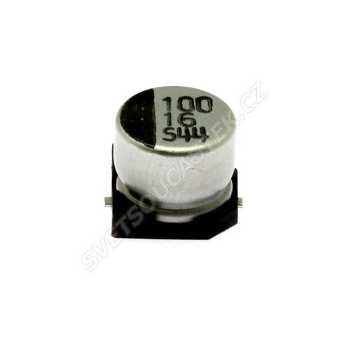 Elektrolytický kondenzátor SMD 100uF/16V 6.3x5.4 85°C Jamicon CSM101M1CE05W