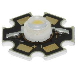 LED STAR 1W stud. bílá 75lm/120° Lambertian Hebei S12PW6C