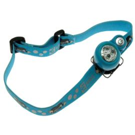 LED čelovka krteček modrá Emos P3529