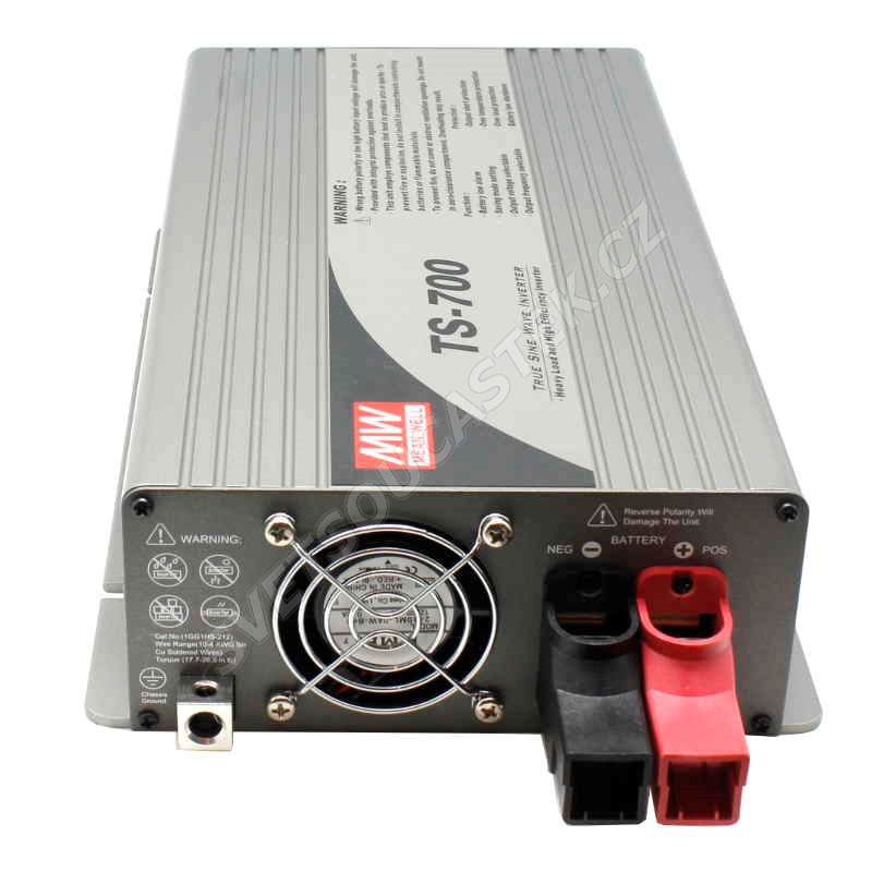 Měnič napětí do auta 24V/230V 700W (čistý sinus) Mean Well TS-700-224B