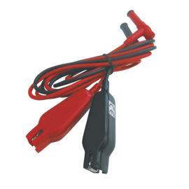 Krokosvorky na kabelu UNI-T L19 sada-červená, černá