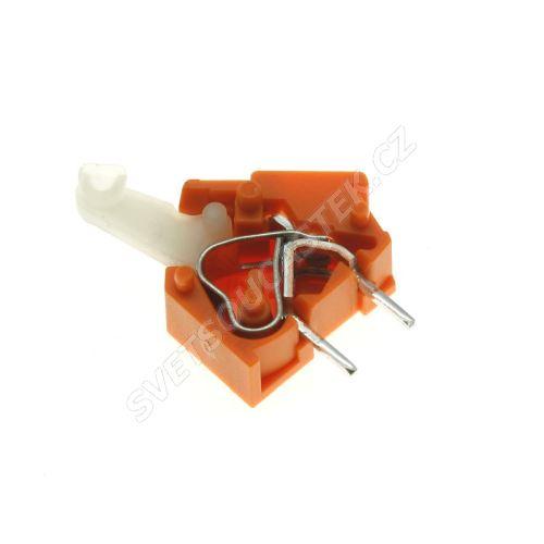 Svorkovnice s tlačítkem do DPS oranžová 250V/16A WAGO 256-746