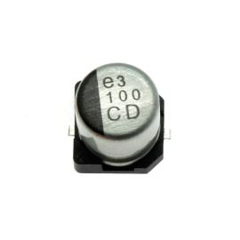 Elektrolytický kondenzátor SMD 100uF/6.3V 5x5.8 105°C low ESR Nichicon UCD0J101MCL6GS