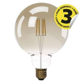 LED žiarovka Vintage G125 4W / 360 ° teplá biela E27 / 230V Emos Z74303