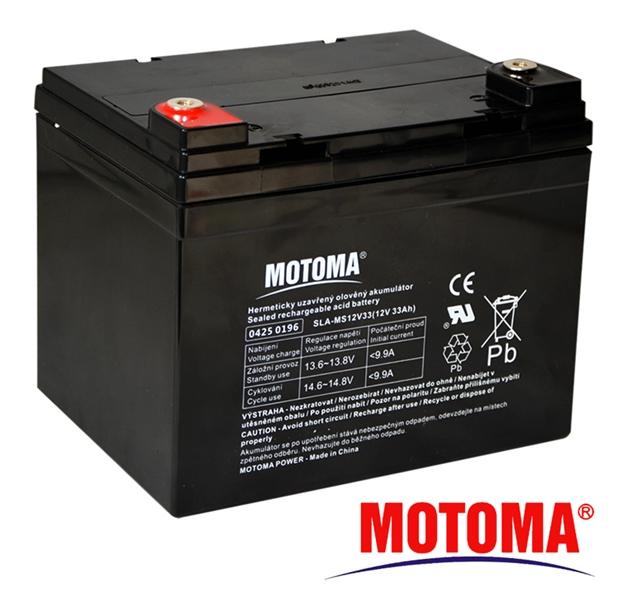 MOTOMA Baterie olověná 12V/33Ah bezúdržbový akumulátor
