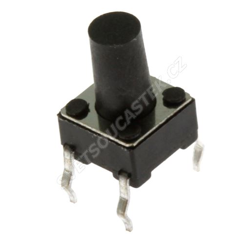 Mikrospínač do DPS spínací 1-pólový OFF-(ON) 0.05A 12V DC Ninigi TACT-69N-F