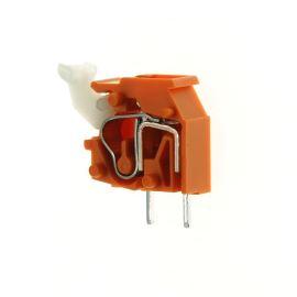 Svorkovnice s tlačítkem do DPS oranžová 250V/16A WAGO 255-746