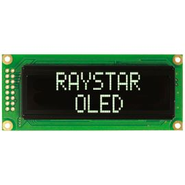 Alfanumerický OLED displej Raystar REC001602CWPP5N00000