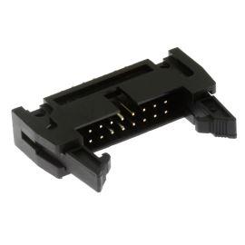 Konektor IDC pro ploché kabely 16 pinů (2x8) RM2.54mm do DPS přímý Xinya 119-16 G S K
