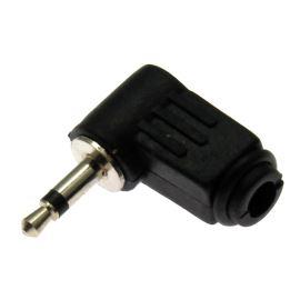 Vidlice Jack úhlová plastová 3.5mm na kabel MONO