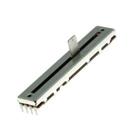 Posuvný potenciometr 200mW lineární STEREO 10k Ohm 20% ALPS RS60N12-10KBX2
