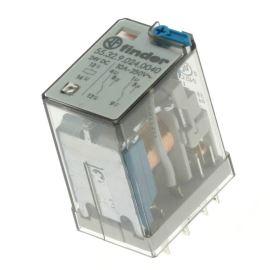 Elektromagnetické relé s DC cívkou do patice 24V DC 10A Finder 55.32.9.024.0040