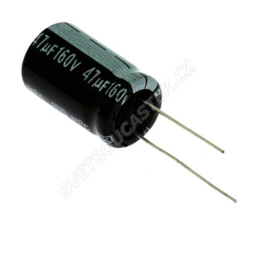 Elektrolytický kondenzátor radiální E 47uF/160V 13x21 RM5 85°C Jamicon SKR470M2CJ21M