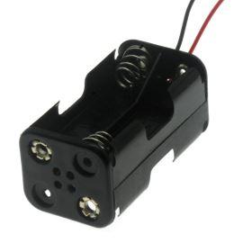 Pouzdro pro baterie 4xAA s vodiči 150mm 6V COMF BH343-1A