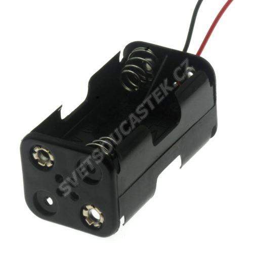 Puzdro pre batérie 4xAA s vodičmi 150mm 6V COMF BH343-1A