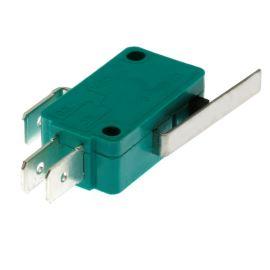 Mikrospínač na faston 6.3mm přepínací 1-pólový ON-(ON) 10A 125/250V AC Jietong  MSW-02 L=27mm