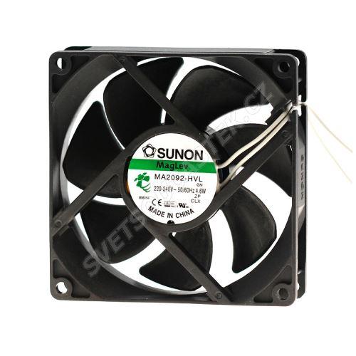 Ventilátor 92x92x25mm 230V AC/103mA 31dB SUNON MA2092-HVL.GN