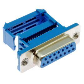 Konektor CANON samořezný 15 pinů zásuvka na kabel přímá Xinya 103-15 S M B 1