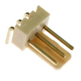 Konektor se zámkem 3 piny (1x3) do DPS RM2.54mm úhlový 90° pozlacený Xinya 137-03 R G