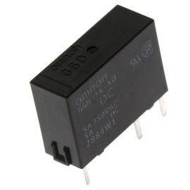Elektromagnetické relé s DC cívkou do DPS 5VDC 5A/250VAC Omron G6D-1A-ASI 5VDC
