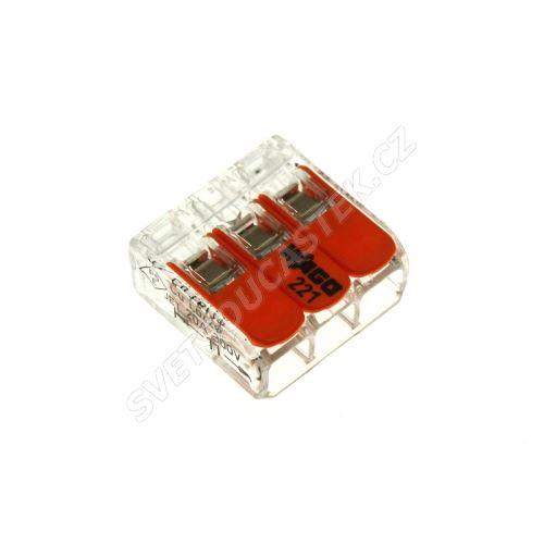 Wago svorka krabicová transparentní 450V/32A WAGO 221-413