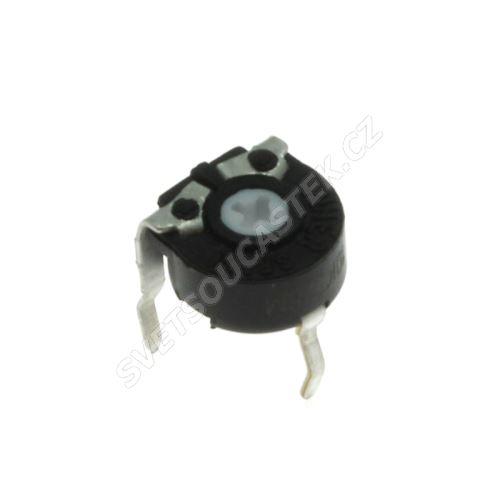 Uhlíkový trimr 6mm lineární 1K Ohm ležatý 20% Piher PT6KV-102A2020