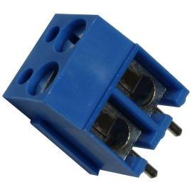 Šroubovací svorkovnice do DPS 2 kontakty 24A/250V RM5.08mm modrá barva PTR AKZ120/2DS-5.08-V-BLUE