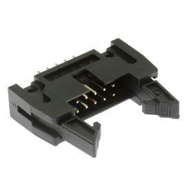 Konektor IDC pro ploché kabely 10 pinů (2x5) RM2.54mm do DPS přímý Xinya 119-10 G S K
