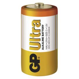 Alkalická batéria GP Ultra LR14 (C), 2 ks v blistri
